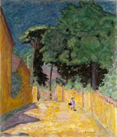 Ruelle à Vernonnet (Lane at Vernonnet) by Pierre Bonnard, oil, 1912 - 1914