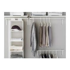 IKEA - MULIG, Clothes bar, white, Can be used anywhere in your home, even in damp areas like the bathroom and under covered balconies. The width can be adjusted to suit your needs. Combines with other products in the MULIG series. Closet Bedroom, Bedroom Storage, Bedroom Wall, Bedroom Decor, Clothes Drying Racks, Clothes Rail, Small Storage, Storage Spaces, Ikea Dekor
