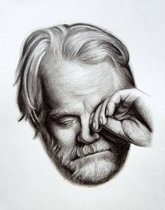 The pencil portrait shown above is not available for purchase. This listing is an example of my drawing style. philip seymour hoffman