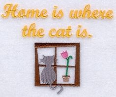 Cat Home - 5x7 | Tags | Machine Embroidery Designs | SWAKembroidery.com Starbird Stock Designs