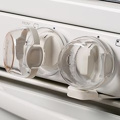 Stove Knob Covers for Child Safety New Design Universal Kitchen Dog or Cat or Baby proofing Gas Knob Lock 2 Pack