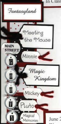 Quick and Easy Ideas for a Disney Scrapbook Page Border - Sample Borders