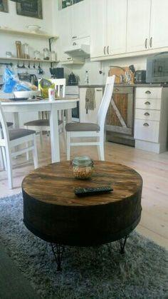 coffeetable, rustic, diy, reclaimed wood