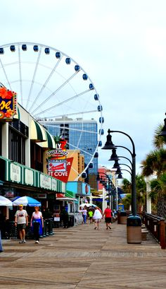 Myrtle Beach, SC Boardwalk. About 2 hours from our house. We live close to all up and down the carolina coastline. There are endless beaches to visit, but Myrtle is definitely one of the favorites. Its very touristy if you're looking for things to do. North Myrtle is more quiet and relaxed.
