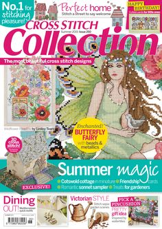 Summer 2015 – issue 250 of Cross Stitch Collection magazine. Get a load of those summery projects! Cross Stitch Tree, Cross Stitch Books, Beaded Cross Stitch, Cross Stitch Embroidery, Cross Designs, Cross Stitch Designs, Cross Stitch Patterns, Magazine Cross, Cross Stitch Magazines