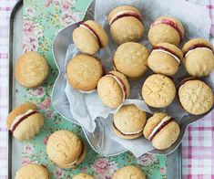 Make your own homemade biscuits with the best Monte Carlo biscuit recipe, complete with a cream & jam filling just like the classic Arnott's cookie. Anzac Biscuits, Tea Biscuits, Monte Carlo Biscuits, Kingston Biscuits, Best Homemade Biscuits, Jam Sandwiches, No Bake Slices, Savory Scones