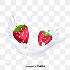 Strawberry Flower, Vector Hand, Hand Painted, Logo, Cake, Flowers, Food Photography, Fotografia, Logos