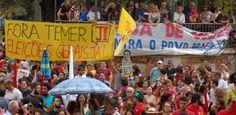 Portal Galdinosaqua:  Grupos contrários ao presidente interino Michel Temer promoveram manifestações em ao menos três capitais neste domingo (15).