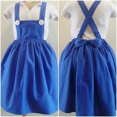 SALE Blue Jumper Dress  Custom Order door SweetDreamsPrincess, $79,00