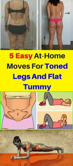 Here Are 5 Easy At Home Moves For Toned Legs & Flat Tummy! Abs Workout For Women, Fat Workout, Tummy Workout, Tummy Exercises, Flat Tummy, Toned Tummy, Flat Stomach, Flat Belly, Lower Belly