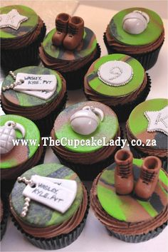 Army theme cupcake toppers