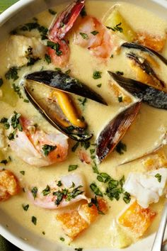 Get Food Network Kitchen's Peruvian Seafood Chowder Recipe from Food Network