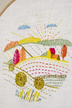 Fall hand embroidery