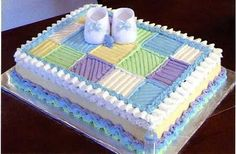 Adorable baby shower sheet cake!!! :) (T, i like this a lot)