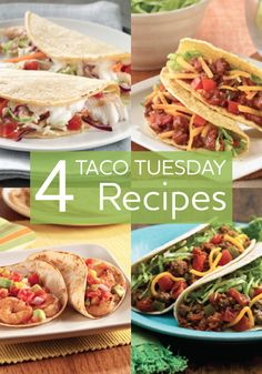 Make Tuesday taco night! Try these four super flavorful taco recipes.