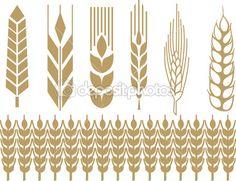 collection d'épis de blé — Illustration #22449551