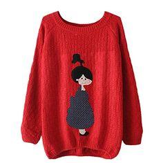 Partiss Womens Doll Pattern Loose Pullover S, Red Partiss http://www.amazon.com/dp/B00UWMBQ1S/ref=cm_sw_r_pi_dp_Mflfvb1B17M5S