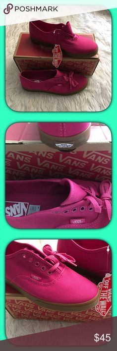 Vans Authentic Lo Pro sneakers Do not go to the park, beach, picnic or on vacation without these cute Vans Authentic Lo Pro Sneakers!! Natural colored sole. Color: Raspberry Rose. Very fashionable & comfortable shoe wear for the spring & summer season!!  Vans Shoes Sneakers