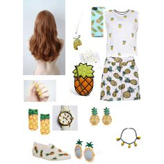 """Pineapples!!!"" by natalievalentine on Polyvore"