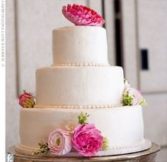 Clay Wedding Cake Flowers