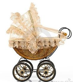 Vintage Baby Stroller. #babyshower #vintage #stroller