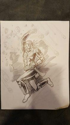 Marcel Lamont-Walker's Hero Corps. Pencils. 2010.