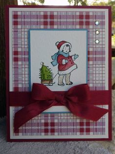Santa Girl in Cherry Cobbler by junior tx - Cards and Paper Crafts at Splitcoaststampers