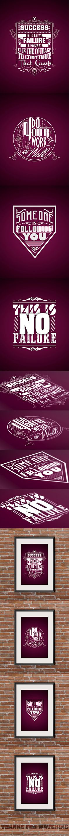 Typography Famous Quotes-Vol 2 on Behance