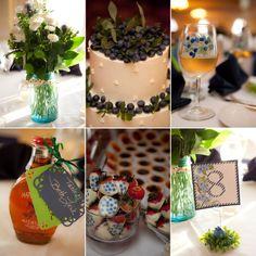 My blueberry theme wedding in Maine:)