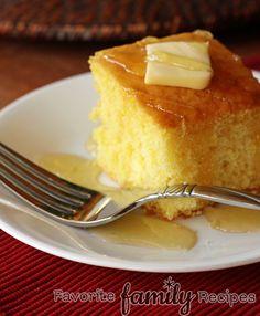 Cake-y Cornbread from favfamilyrecipes.com #recipes #cake #cornbread
