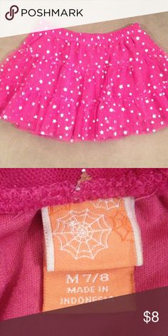 Girl's Skirt Girl's size M (7/8) skirt. Pink with silver stars. Mint condition! Smoke-free home. Bottoms Skirts