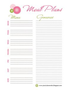 menu planner | Free Printables - Meal Planner and Recipe Cards | A Winding Road