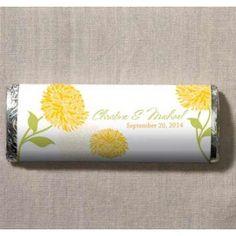 Zinnia Candy Chocolate Bar #ediblefavors #wedding #favors #daisydays