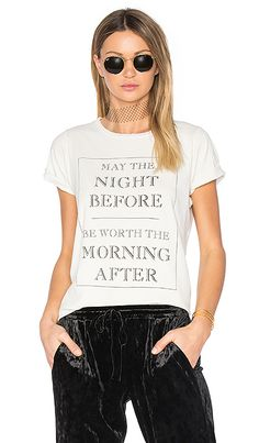 This hangover graphic tee from Wildfox says exactly what you mean | http://www.hercampus.com/style/kristen-stewart-stella-maxwell-matching-outfits