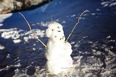 January 6, 2014 - Little snowman at the top of the world.  40 degrees on the mountain today.  Felt like spring today.