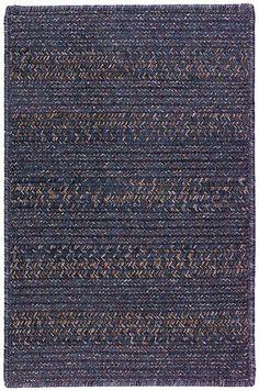 Colonial Mills EL Outdoor Elegance Braided Lapis Blue Rug   Solid & Striped Rugs