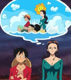Luffy y Robin (One Piece)