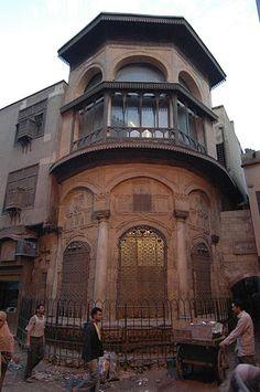 Cairo: facade of a house