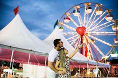 Confira o ensaio de noivos no parque de diversões em Vitória - ES, da Karinny e…