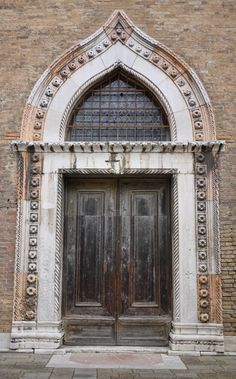 Venice has an architecture unique to itself ~ and you can see it in the pointed windows and doors that were influenced by Islamic styles.