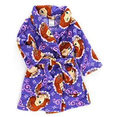 0d5037658e Amazon.com  Sofia the First Toddler Purple Fleece Robe (2T)  Clothing