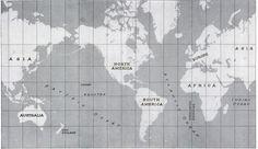 map . black & white . vintage