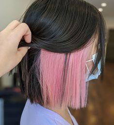 underlights tendencia cabello Hidden Hair Color, Two Color Hair, Hair Color Streaks, Hair Color Purple, Hair Dye Colors, Cool Hair Colours, Peekaboo Hair Colors, Pink Hair Highlights, Underlights Hair