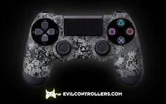 PS4Controller-WhiteUrban | Flickr - custom ps4 controller - custom dual shock 4 controller