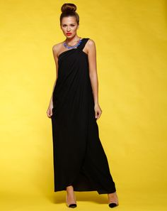 Honey & Beau brings you this beautiful Maxi Dress with one shoulder strap detail, this open layered maxi is perfect for the hotter seasons this year  Features: - One Shoulder Strap - Opened Layers - Black - Polyester - Bust 84cm (size 8) - Length 147cm