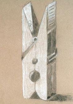 Carolina Furtado. Carvão e pastel branco s/ papel kraft, 42 x 29,7 cm