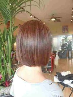 Color and cut Tapered straight bob, perfect growing out stage l