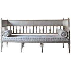 Период эпохи короля Густава шведского диван в оригинальной краске