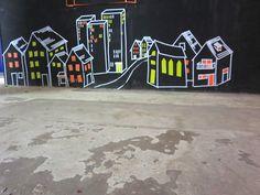 Eine Stadt aus Klebeband - Tape Art des hKDM Workshops beim illu² Festival in Freiburg Workshop, Tape Art, Logos, Duct Tape, Freiburg, City, Atelier, Logo