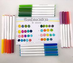 Crayola Supertips, Color Combos, Stationary, Minecraft, Notebook, Bullet Journal, Notes, Victoria, Lettering